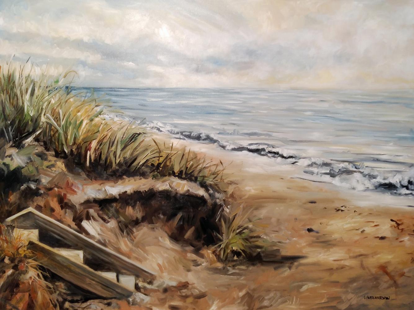 Lake Huron Sunrise by Amanda Farquharson 30 x 40 inches, oil on canvas