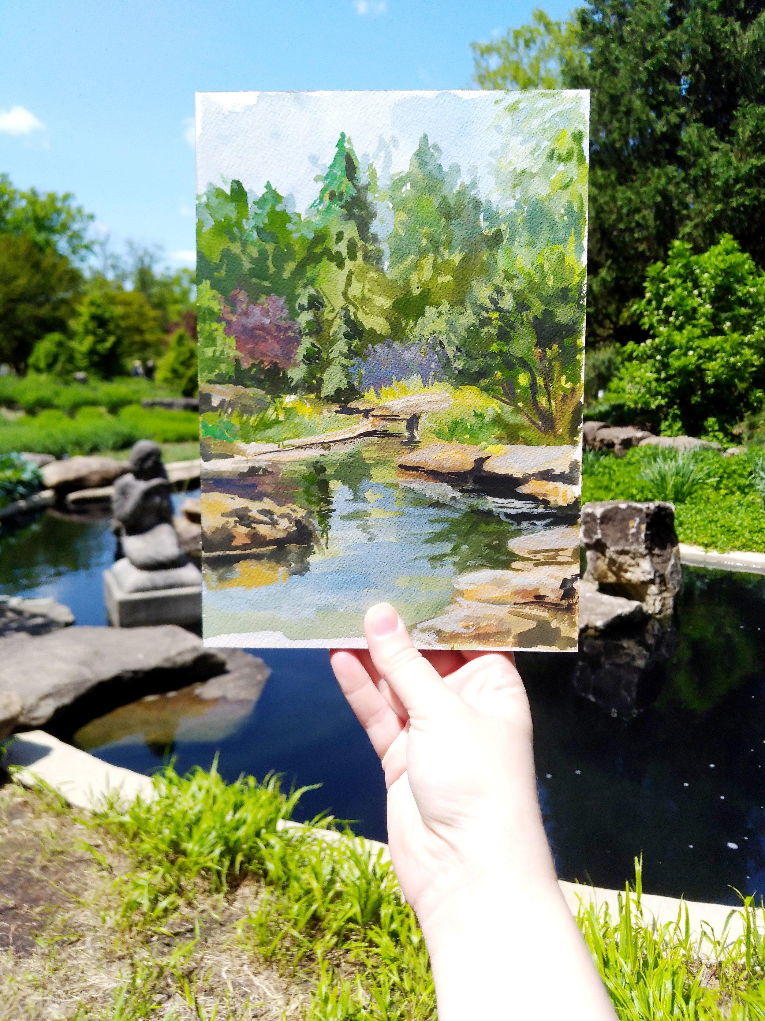 Rock Garden Study on location.