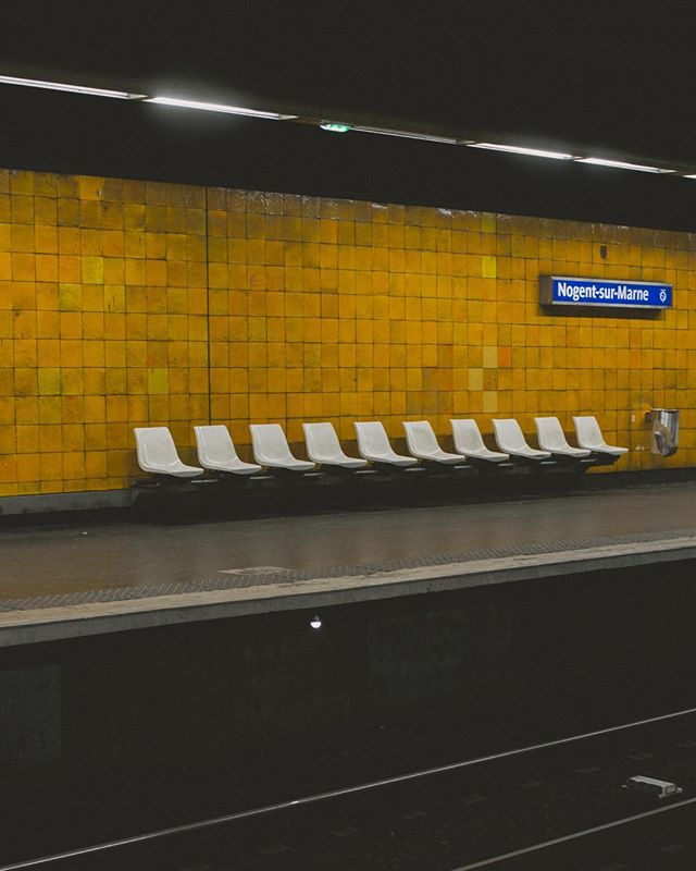 Nogent sur Marne '17 . . #places #street #photography #metro #amarillo #night #noone