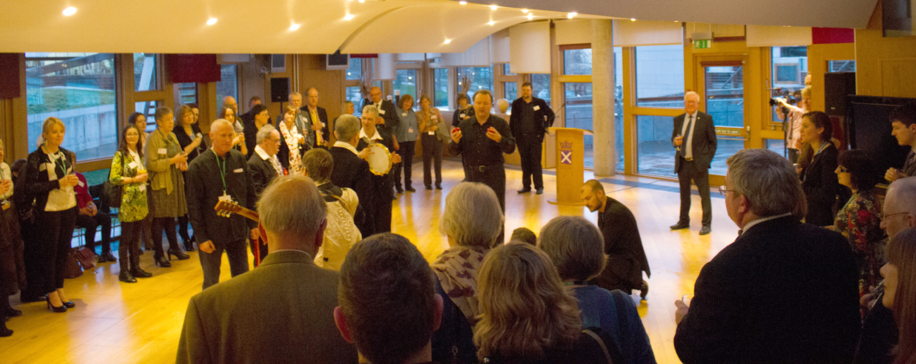 Abrupt Encounters with MSP Bruce Crawford at a reception celebrating 25 years of Artlink Central.jpg