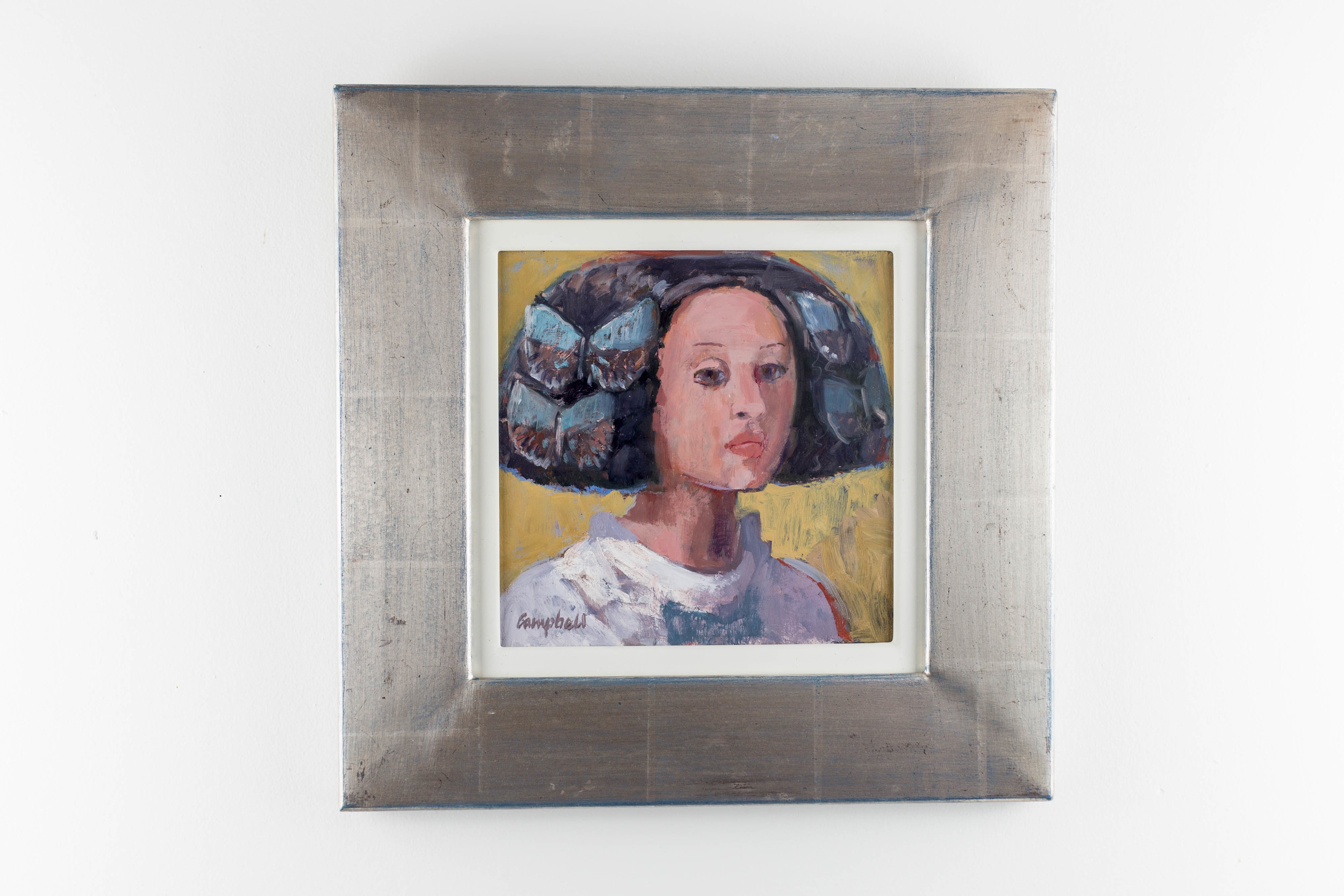 Lot 1    Catriona Campbell   Lady of Spain  Acrylic on Board