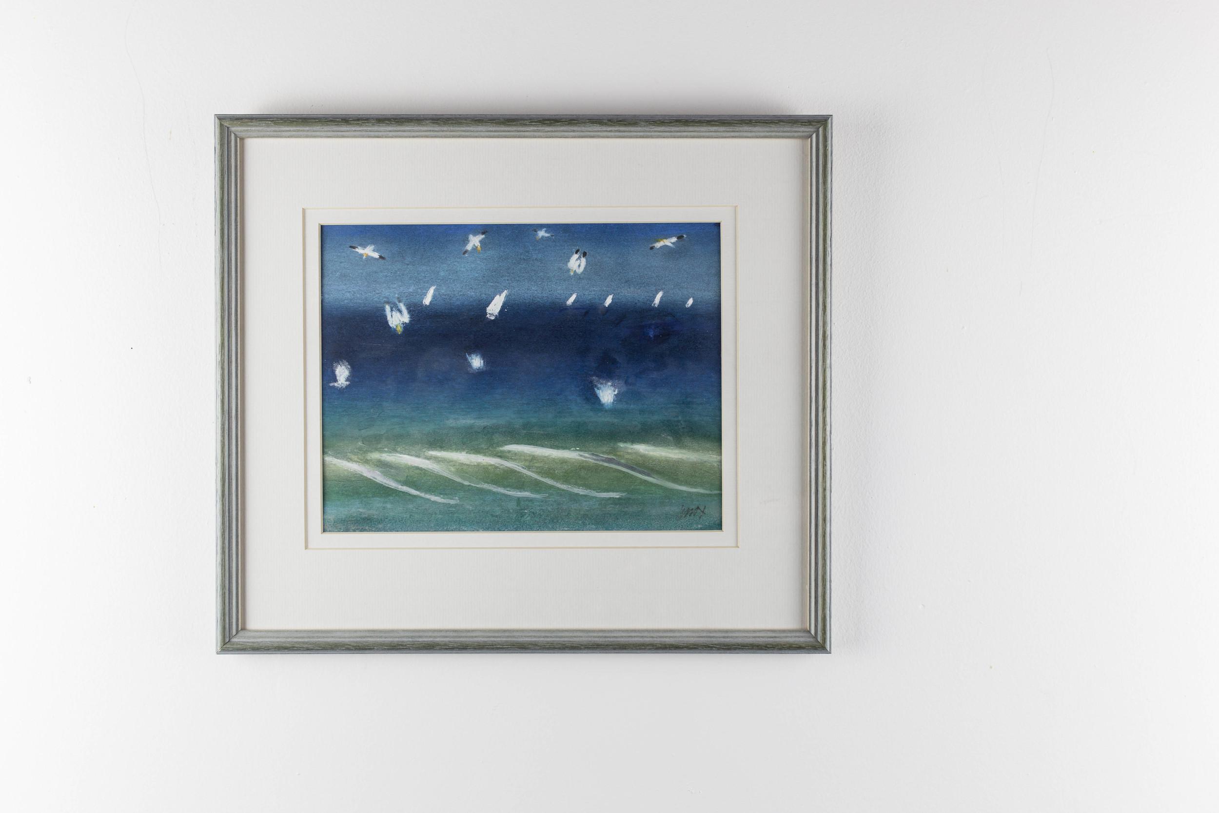LOT 8   Jack Knox   Gannets Fishing  Watercolour