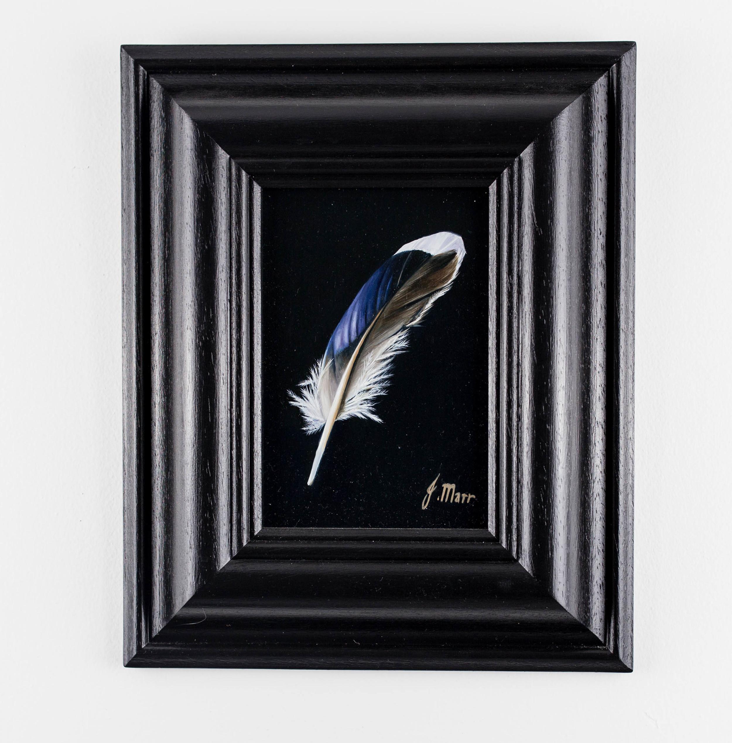LOT 12   Jacqueline Marr   Mallard Feather III  Oil on Board