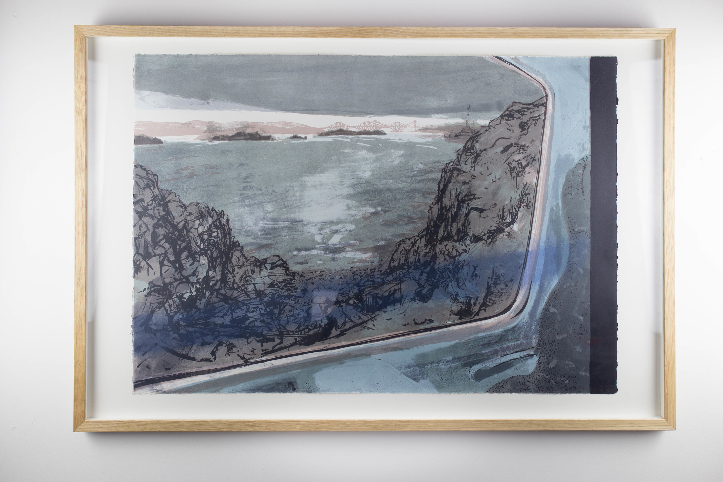 LOT 14   Kate Downie   Late Train on the Firth  Lithograph