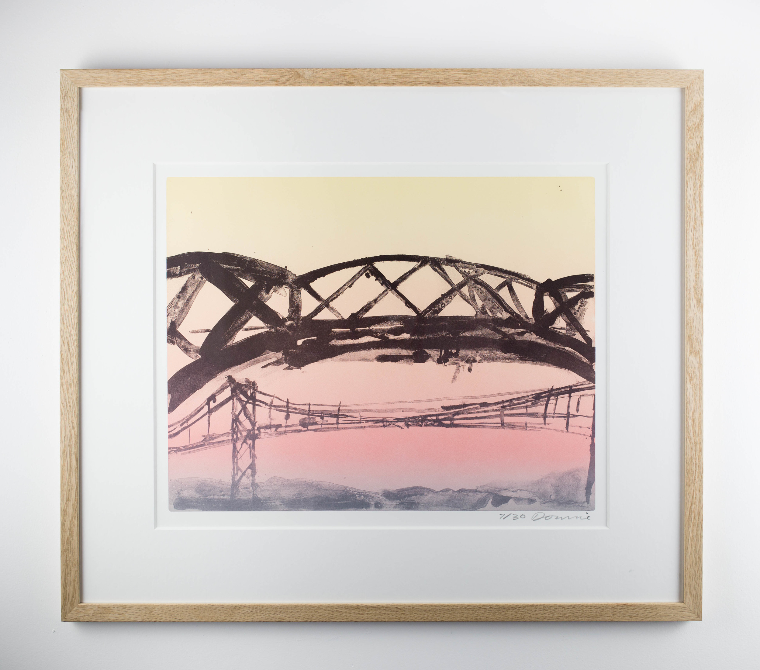LOT 15   Kate Downie   Ferry Down the Firth  Lithograph