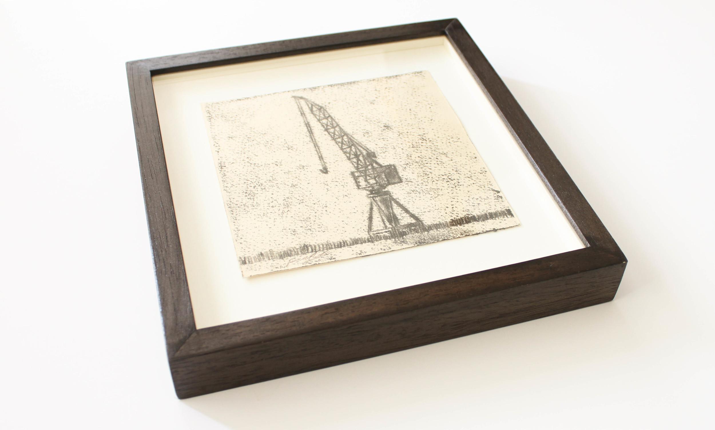 LOT 18   Frank To   Govan's Crane  Monoprint