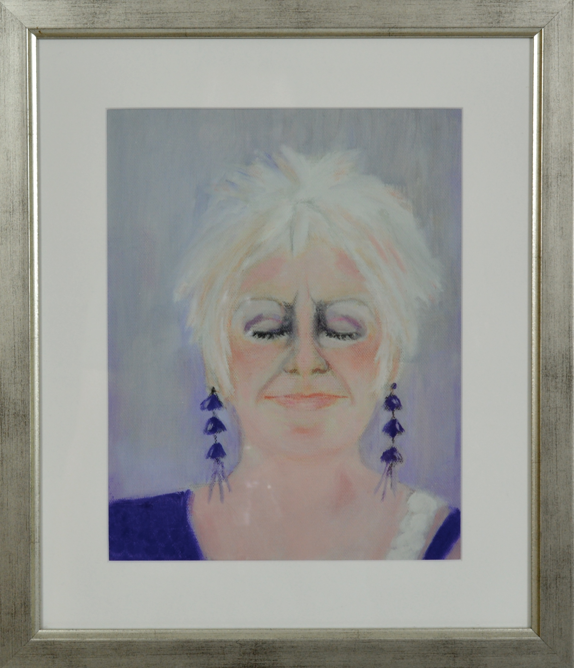 Self portrait of Carol Kidd for auction at an Evening with Artlink Central.