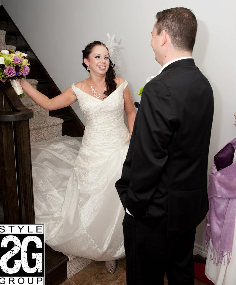 first glance...Melissa & Dan decided to see one another before exchanging vows!