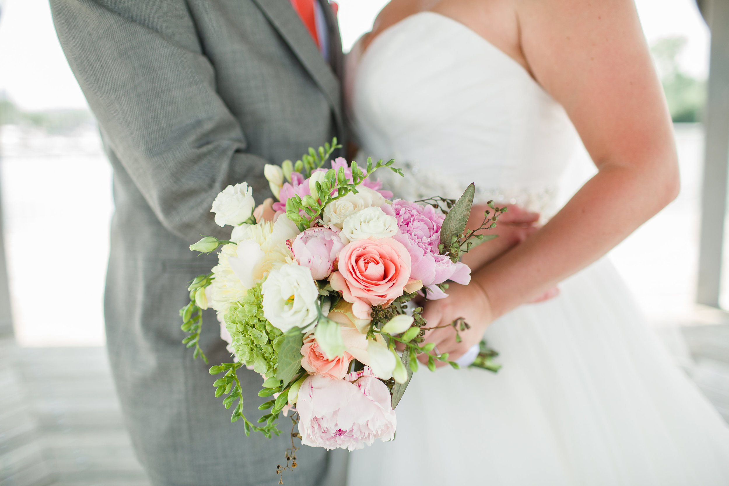 """- LINDSAY & MATT-   """"Jen, I cannot thank you enough for our GORGEOUS flowers for our wedding. You were so amazing to work with from the very start. You took my vision and ideas and turned them into something more beautiful than I ever imagined! If anyone is looking for a florist, Jen is the one! More pictures to come!!"""" Xo — Lindsay"""