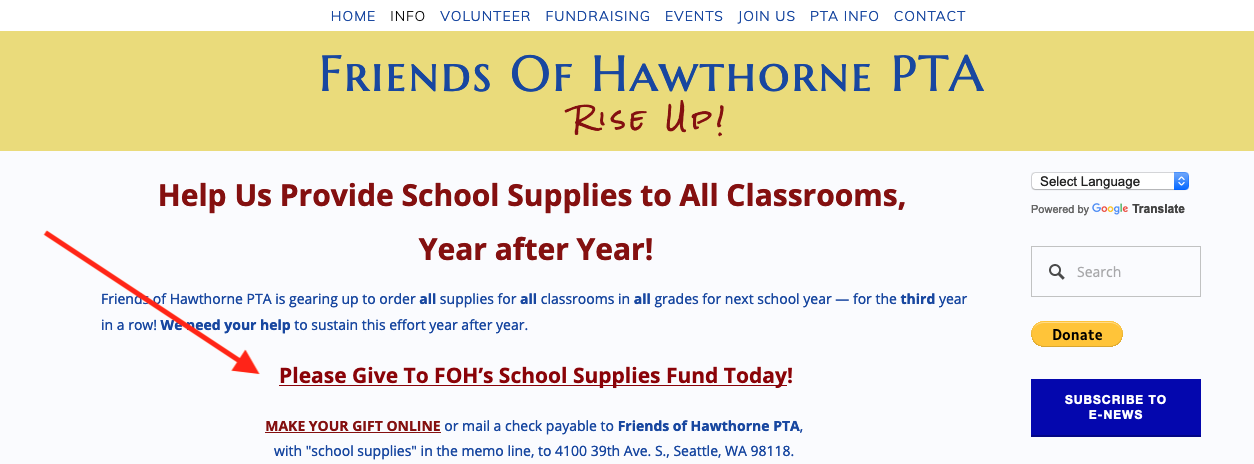 No need to get school supplies! — Friends Of Hawthorne PTA