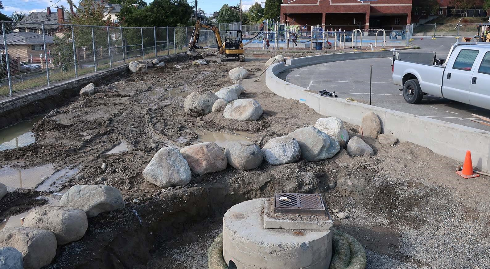 9/16/2019 - Stone Boulders in place!