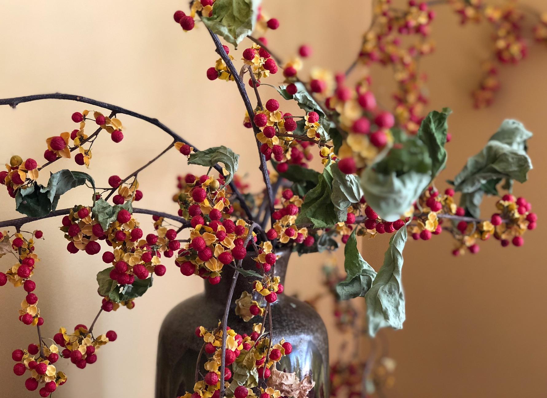 Winterberry arrangement, The Porches, North Adams, MA. ©2017seanwalmsley