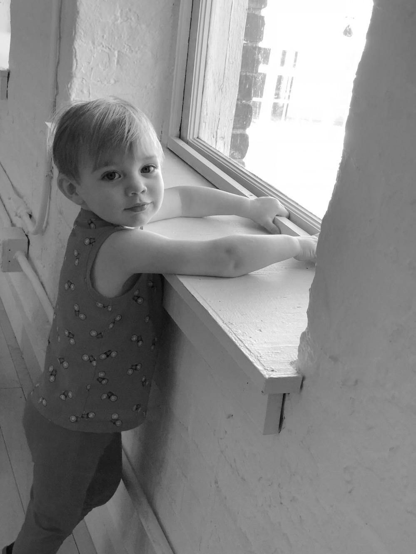 Young child in Kidspace, Mass MoCA, North Adams, MA. photo ©2017seanwalmsley