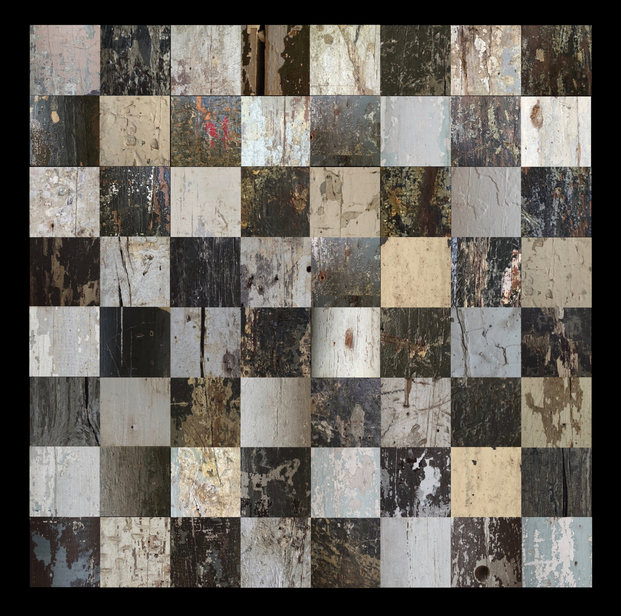 Chessboard (created with photos of Mass MoCA support columns). ©2018 Sean Walmsley