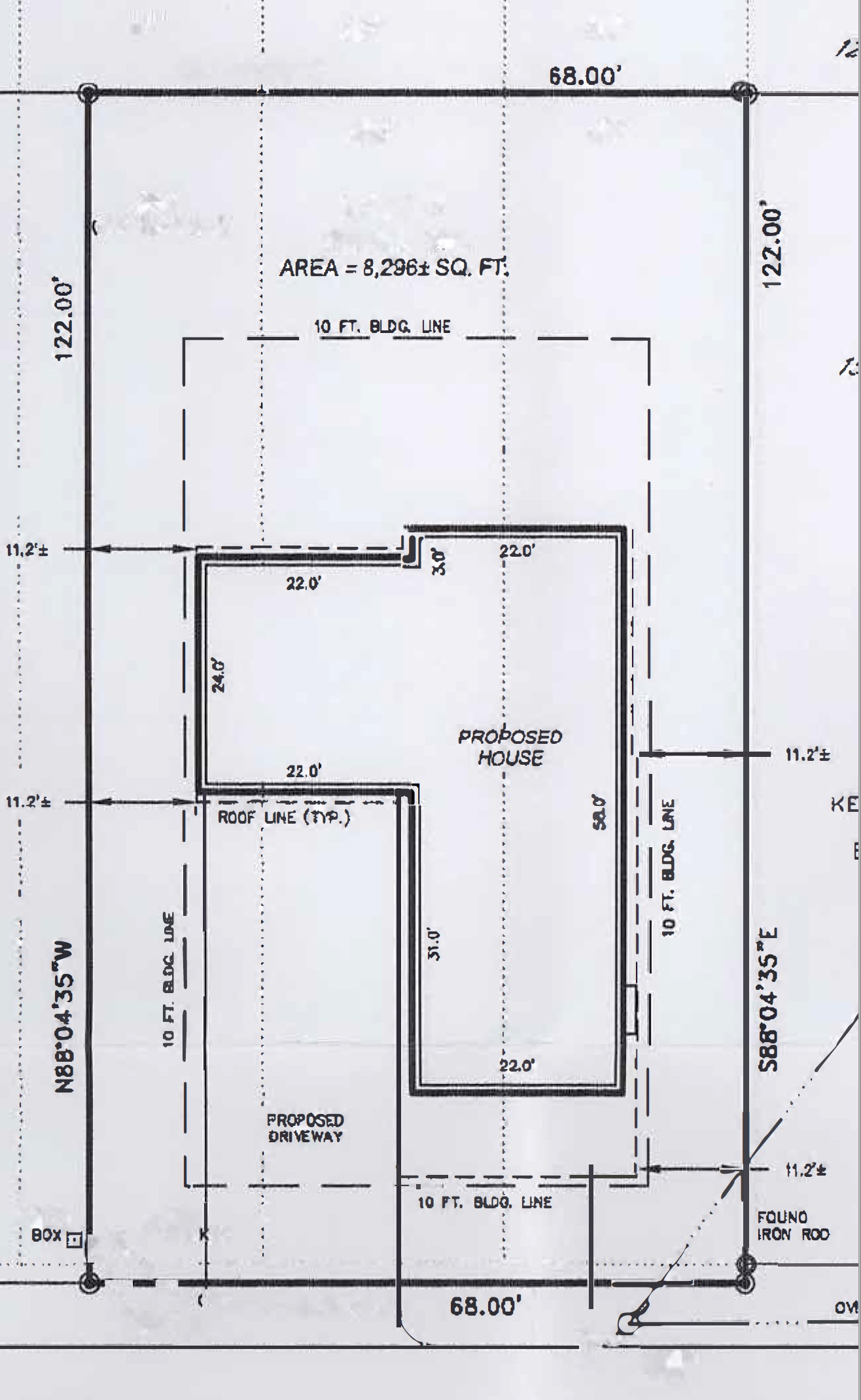 Plot Plan for my house in Saratoga, NY.