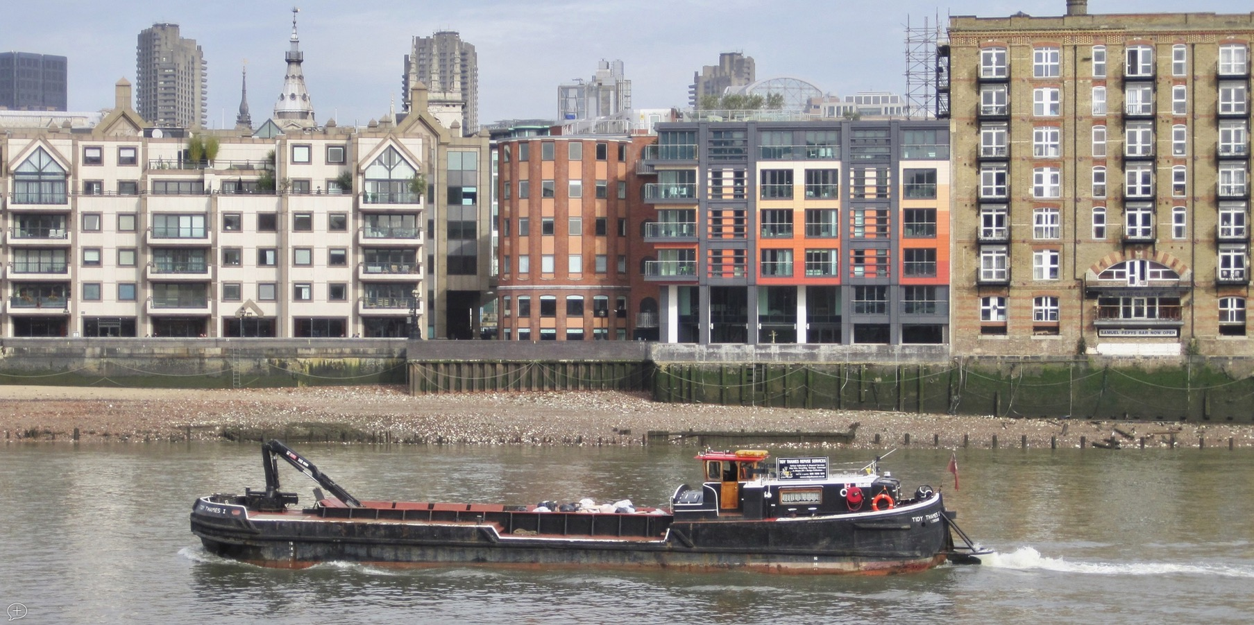 Barge on the River Thames in London, UK . ©2011 Sean Walmsley