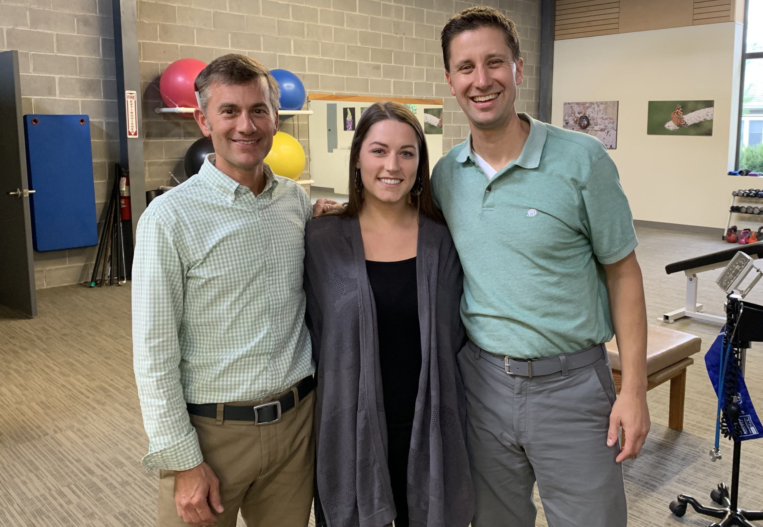 Michael Lapolla (Owner, Exercise Physiologist), Colleen Fraser (Exercise Physiologist) and Nicholas Galuardi (Owner, Exercise Physiologist).