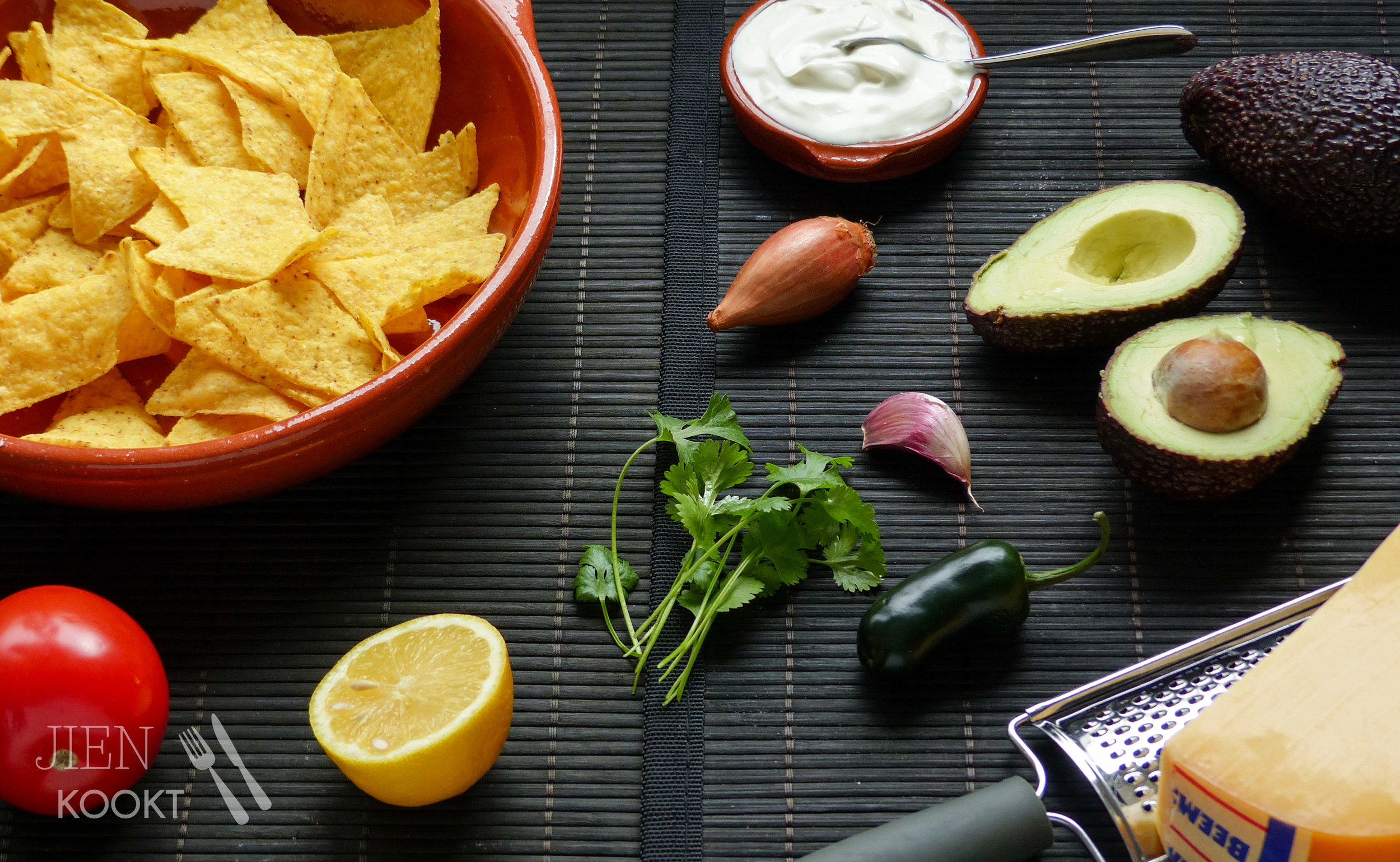 Het Mexicaanse Zomergevoel Nachos Uit De Oven Met Guacamole Jien Kookt