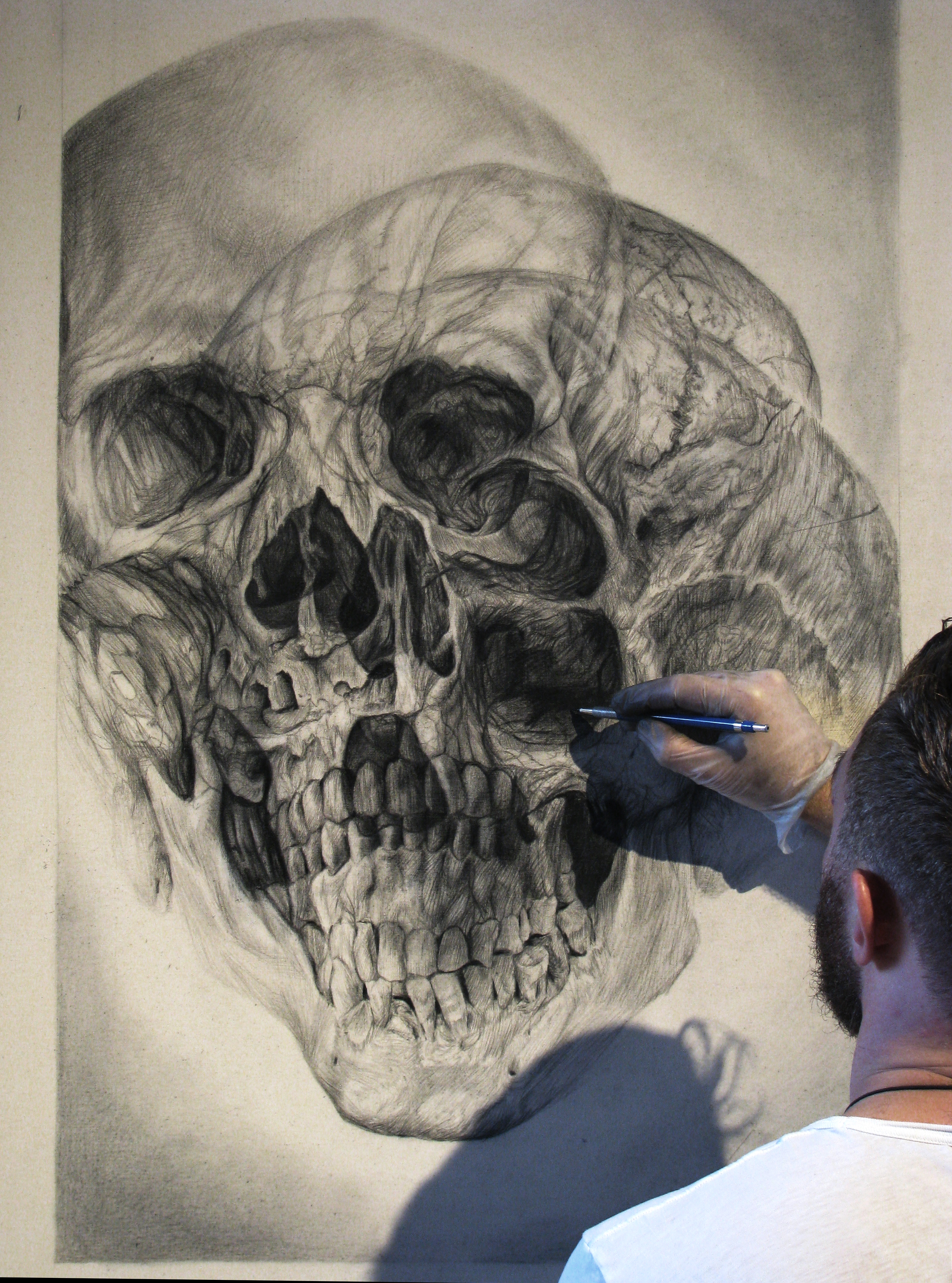 4th Skull detail - Sergio Barrale - pencil on canvas - 40x25in -$2,800.jpg