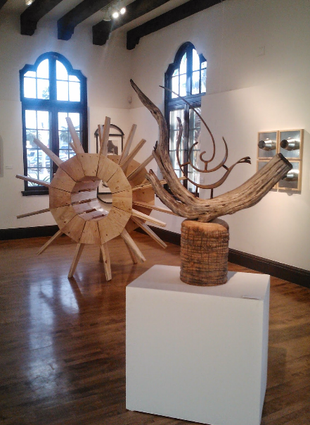 "forground sculpture, ""Fire Starter,""  Athenaeum Gallery, La Jolla, CA"