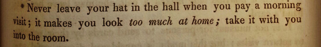 Etiquette: A Guide to the Usages of Society  by Count Alfred D'Orsay (1844)