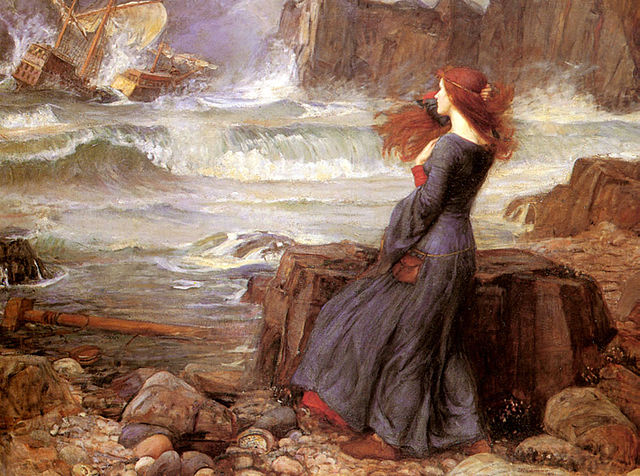 """Miranda, a character in """"The Tempest"""", a play by William Shakespeare,  John William Waterhouse"""