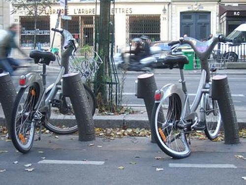 Busted Vélib' bikes, circa 2009.