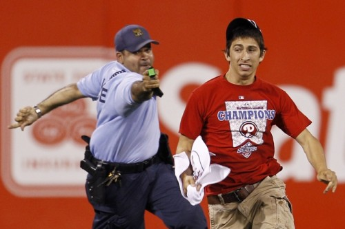 Sox fans can get wicked smug, but Phillies fans get tased.