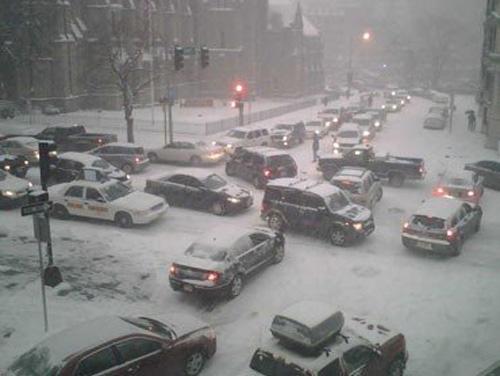 The snow falls, rage begins, blood pressure rises.