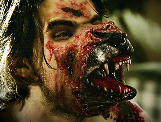 The werewolves on  Hemlock Grove  don't so much transform as turn inside-out.