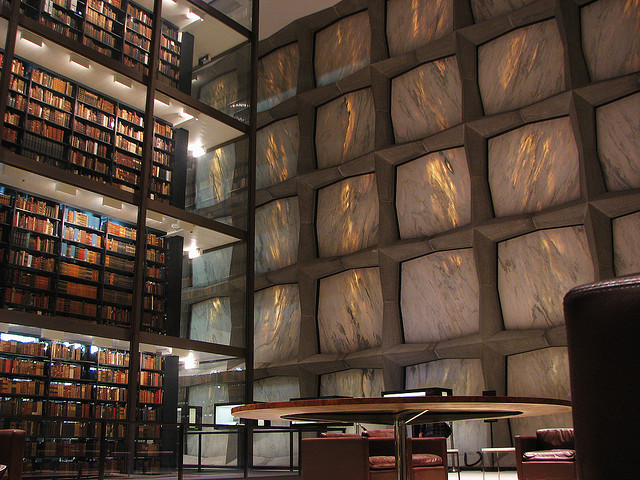 The Beinecke Rare Book and Manuscript Library at Yale University; New Haven, Connecticut