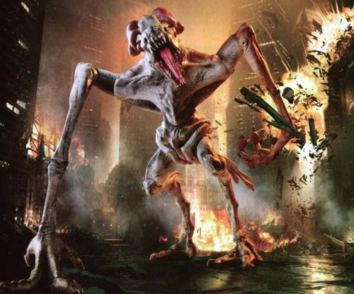 This is the monster from   Cloverfield  , right down to its ovary-ears.
