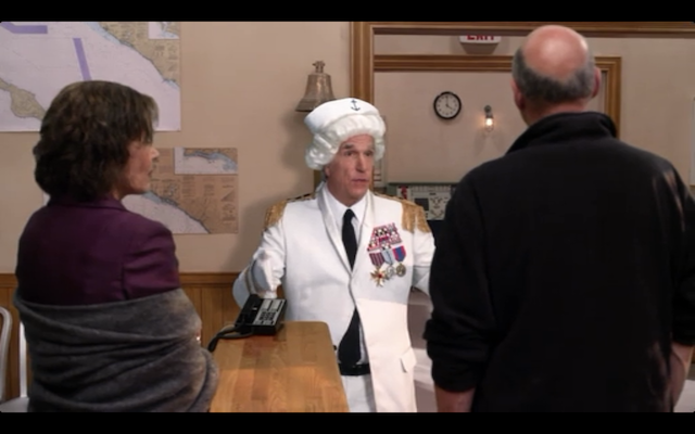 """Henry Winkler (all grown up) as Barry Zuckerkorn, """"attorney"""" at law."""