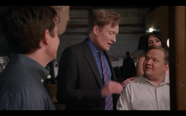 Conan O'Brien and Andy Richter as dysfunctional (we hope) versions of themselves.