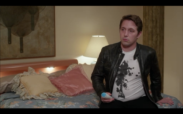 """This guy  (Beck Bennett) from those AT&T commercials as the """"straight-bait"""" porn star."""