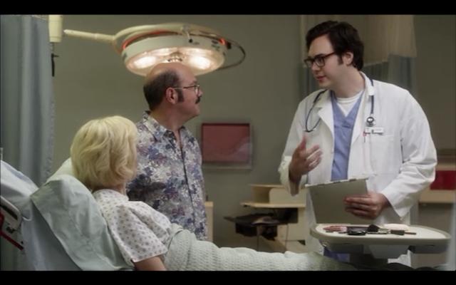 Nelson Franklin as DeBrie's doctor.