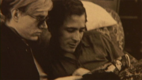 The filmmaker's uncle, Danny Williams, and Warhol.