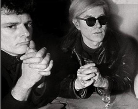 Warhol and Morrissey at Max's Kansas City, 1968.