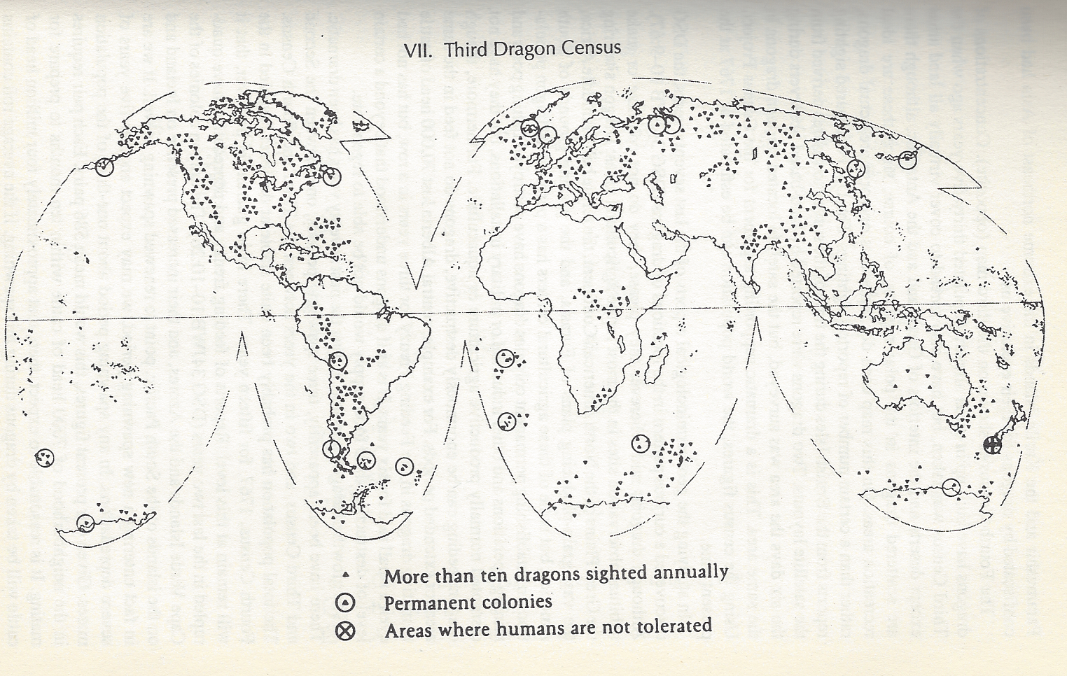 A dragon census performed by the Dragon Survery Group — the results of which are only 50 percent accurate due to hiding dragons, dragons living underground and invisible dragons