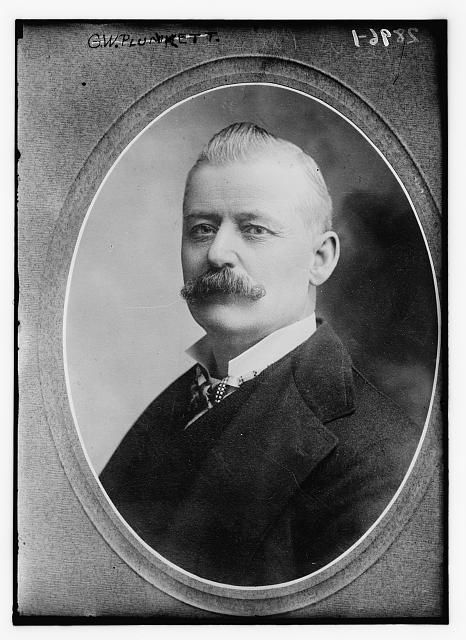 Portrait  of Plunkitt, taken between 1910 and 1915; note that his eyes are  focused elsewhere — most probably looking for more opportunities to  seize. (Credit: Photo by Bain News Service, courtesy of the Library of  Congress)