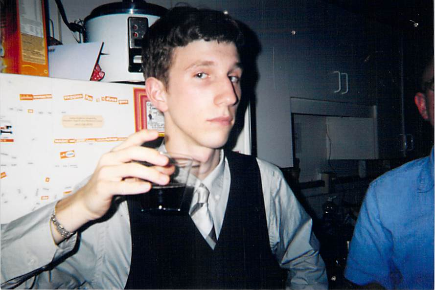 Kristopher Jansma at a college house party in 2002