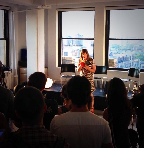 Lindsay Hunter reading at Studio-X New York (Credit: Photo courtesy of  Robbie Imes )