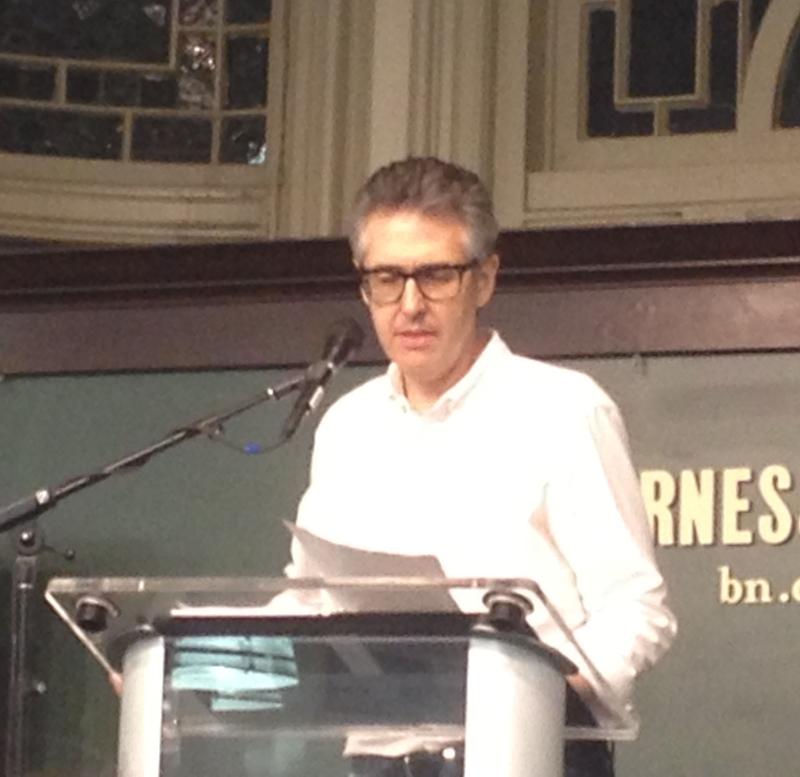 Ira Glass reading  Love, Dishonor, Mary, Die, Cherish, Perish (Credit: Photo by author)
