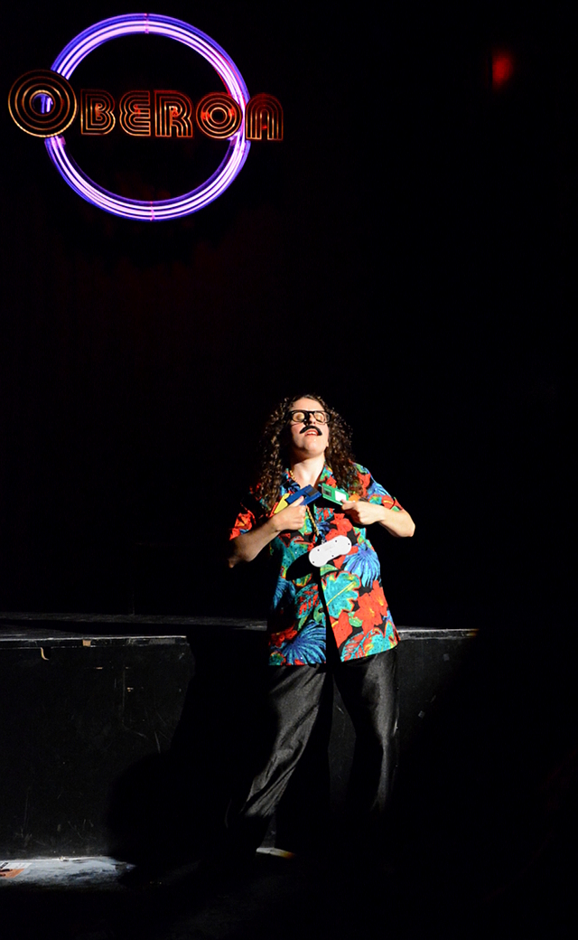 In the show's closing act, the protagonist introduces his mother to his new girlfriend: a Weird Al cosplayer wearing an SNES controller as a necklace and caressing herself with floppy disks.