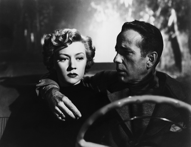 Gloria Grahame as Laurel Gray and Humphrey Bogart as Dixon Steele in  In a Lonely Place