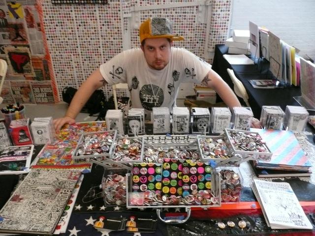 Noah Lyon at the Retard Riot booth at the NY ART BOOK FAIR (Credit: Photo courtesy of  Noah Lyon )