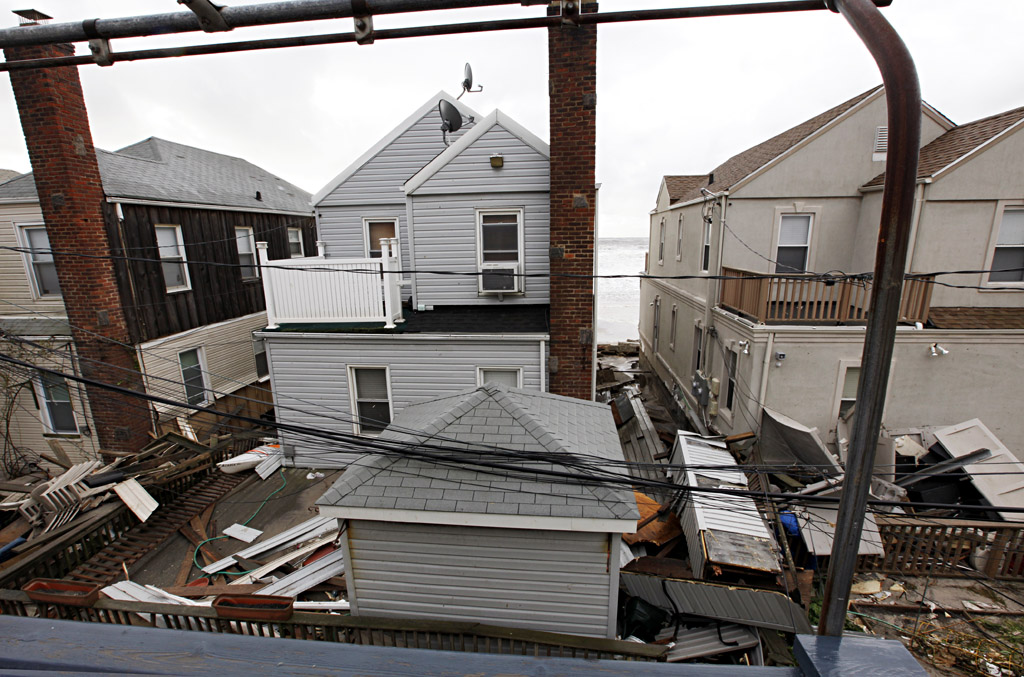 The view from Larry Racioppo's deck at his home in Belle Harbor, Queens following Hurricane Sandy (Credit: All photos by Larry Racioppo)