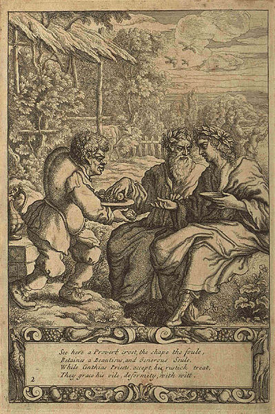"""Aesop and Priests"" by Francis Barlow (via  Wikipedia )"