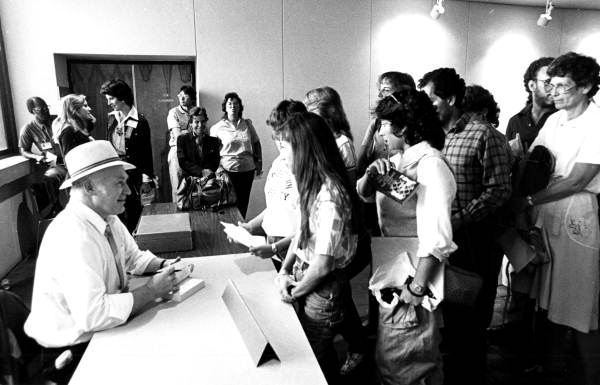 Well-behaved Ken Kesey fangirls at the 1984 Miami Book Fair (via  Florida Memory )