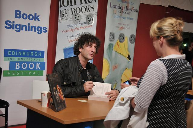 Neil Gaiman at the 2013 Edinburgh International Book Festival (via  Edinburgh International Book Festival )